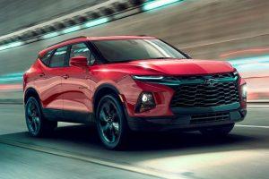 Chevrolet Blazer 2020 rojo en la ciudad