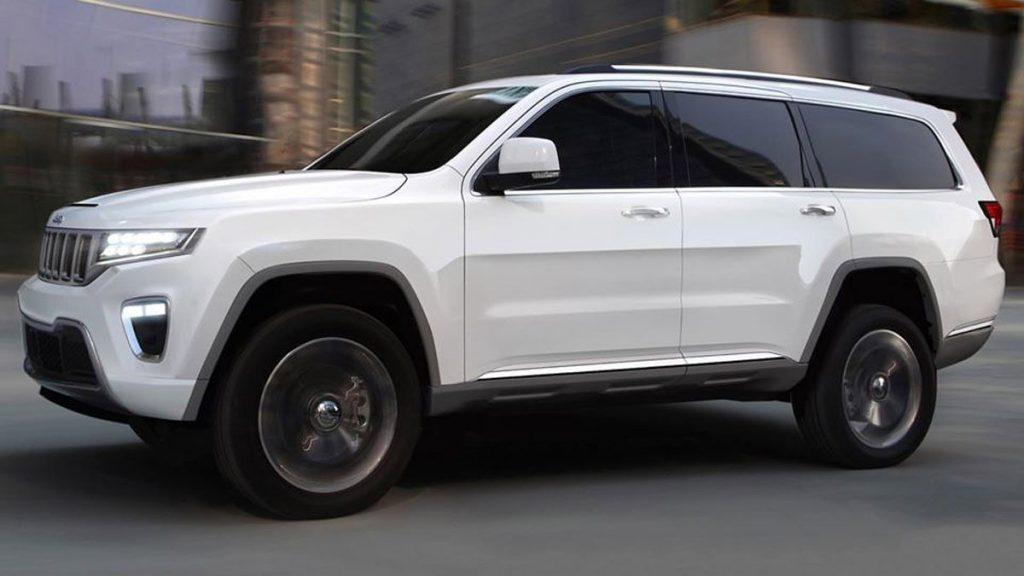 Jeep Wagoneer 2021 blanco de primer vistazo