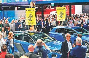 Protestas en el Motor Show de Frankfurt